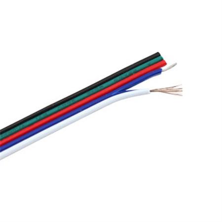 RGBW kabel pro LED pásky, 5 x 0,3 mm2  metráž -1m