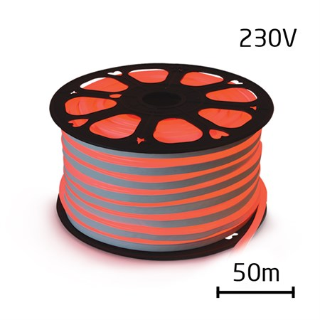 LED neon flexi hadice 230V 120LED/m 12W/m červená (50m)
