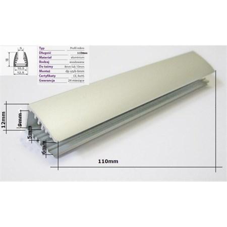Klips LED na sklo teplá bílá 2x 10 cm + adaptér