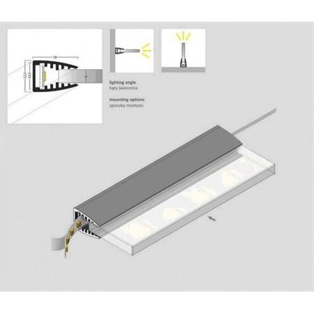Klips LED na sklo zelená 2x 10 cm + adaptér