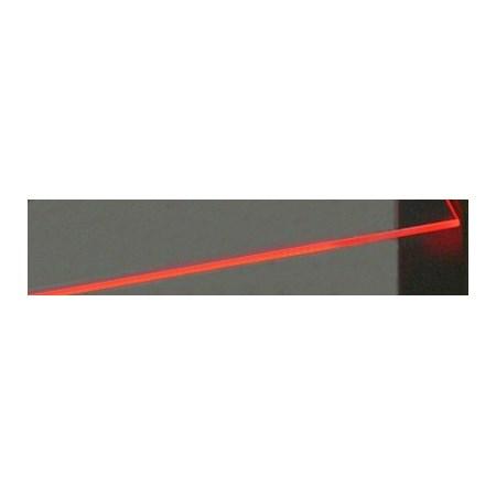 Klips LED na sklo červená 5x 10 cm + adaptér