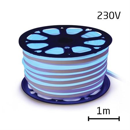 LED neon flexi hadice 230V 120LED/m 12W/m modrá (1m)