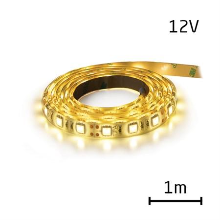 LED pásek 12V 3528 120LED/m IP65 max. 9.6W/m bílá teplá (1ks=1m) zalitý