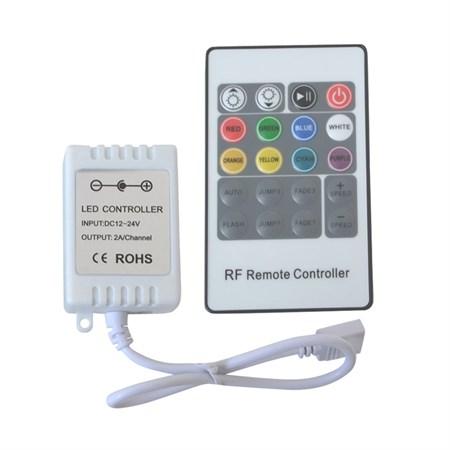 Ovladač pro Led pásek 12/24V - RGB kontroler pro LED pásky 12V, RF