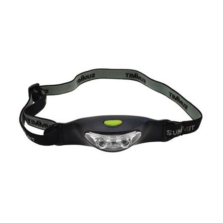 Čelová LED svítilna, 3x LED, černo-šedá, 2x CR2032