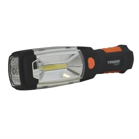 Svítilna montážní TIROSS TS-1107, 1+6 LED, 3x AA s magnetem