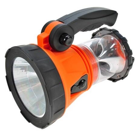 Svítilna nabíjecí LED s lucernou, 3W + 15 LED, Li-Ion, oranžovočerná SOLIGHT WN14