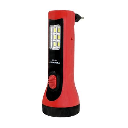 Svítilna ruční nabíjecí TIROSS TS-1138, 5+6 LED, 500 mAh červená