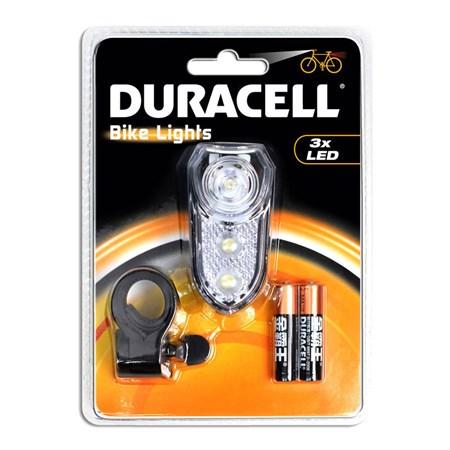 Svítilna na kolo DURACELL BIK-F02WDU s 3xLED 2xAAA - přední