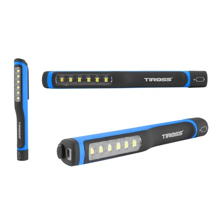 Svítilna ruční TIROSS TS-1118 6+1 LED, 3x AAA modrá