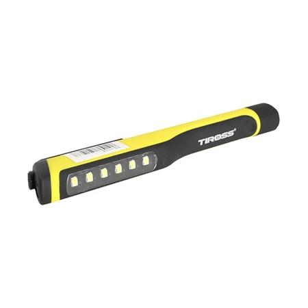Svítilna ruční TIROSS TS-1118 6+1 LED, 3x AAA žlutá