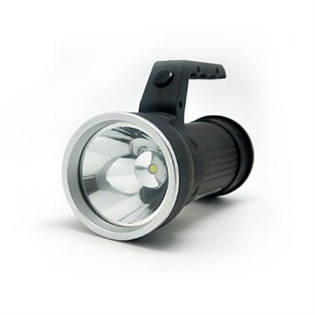 Svítilna LED 2v1, 3W CREE + 6x SMD LED, černá, 3 x AA WL102