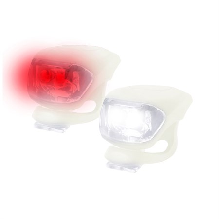 Svítilna na kolo silikonová sada - bílá, YG2