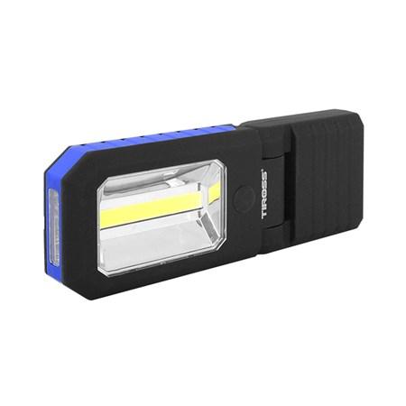Svítilna ruční TIROSS TS-1833 4 LED+COB, 3x AAA modrá s magnetem