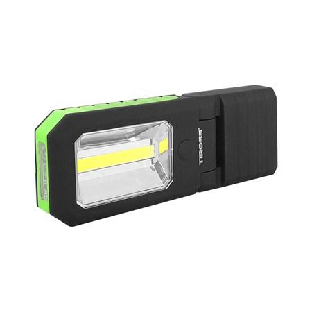 Svítilna ruční TIROSS TS-1833 4 LED+COB, 3x AAA zelená s magnetem