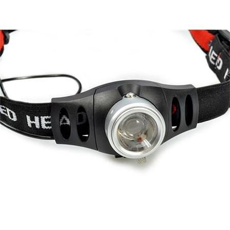 Svítilna  čelovka LED 3W Cree, 140lm, fokus, 3x AAA