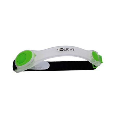 LED bezpečnostní pásek, 2x CR2032, zelená