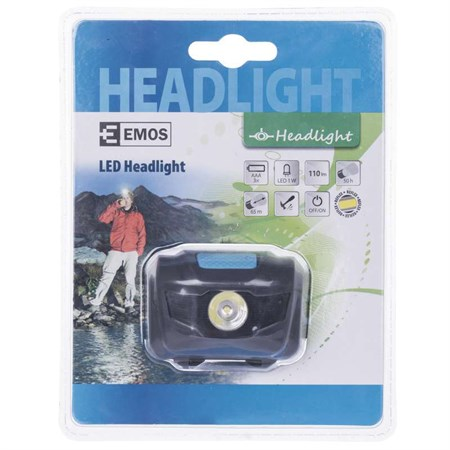 LED čelovka na 3xAAA, 1 W LED