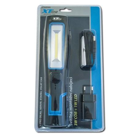 Svítilna montážní nabíjecí LED COBALT 3W + 1 x LED 1W