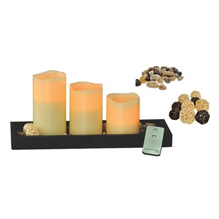 Sada LED voskových svíček na dálkové ovládání