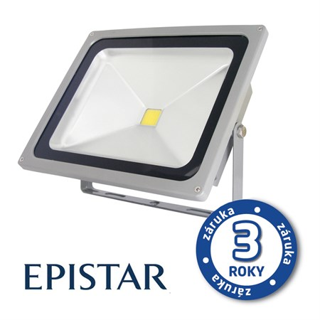 LED reflektor venkovní  30W/2500lm EPISTAR, MCOB, AC 230V, STUDENÁ, šedý