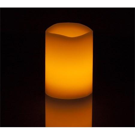 Vosková LED svíčka válec RETLUX RLC 13 přírodní