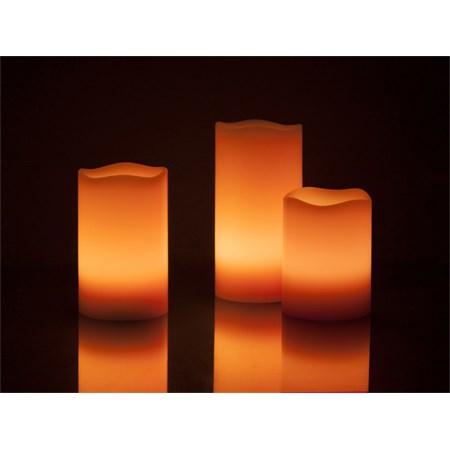 Vosková LED svíčka 3ks možnost změny barvy RETLUX RLC 33