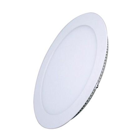 LED mini panel, podhledový, 12W, 900lm, 3000K, tenký, kulatý, bílé WD105 SOLIGHT