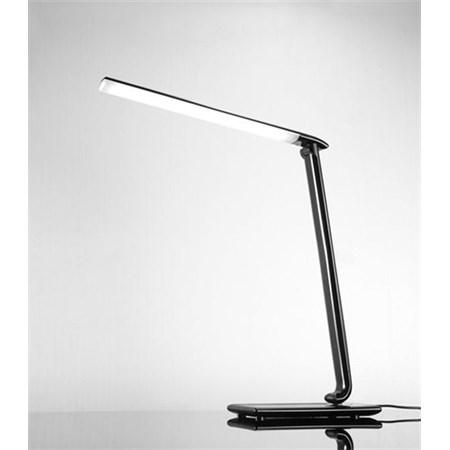 LED stolní lampička stmívatelná, 9W, volba teploty světla, černý lesk