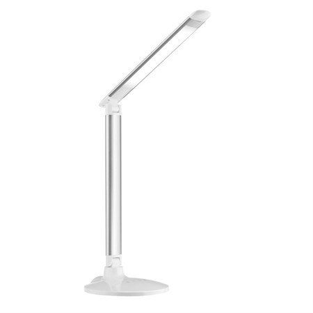 TIPA Stolní LED lampa T11 se 3 režimy barvy světla, stříbrná