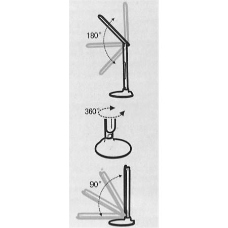 Lampa LED stolní IMMAX T7 s displejem bílá 08902L