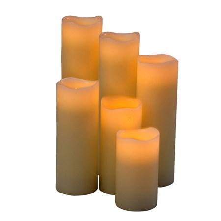 ARTI CASA vosková LED svíčka 6ks, přírodní
