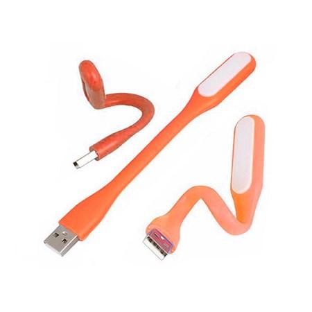 Svítidlo lampička LED USB ohebná oranžová