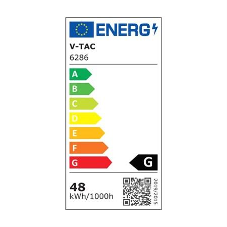 LED zářivkové svítidlo prachotěsné IP65, 150cm, 48W, bílá studená 6000K