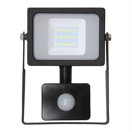 LED reflektor venkovní SLIM s PIR  10W/800lm, SMD, 6400K, černý