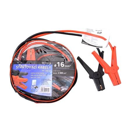 Startovací kabely 16mm2 se svorkami 3m TÜV/GS DIN72553