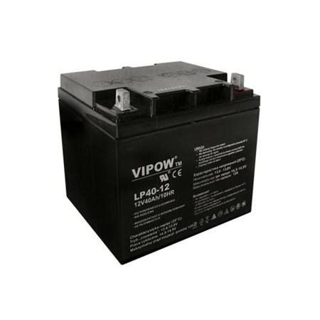 Baterie olověná  12V/40Ah  VIPOW bezúdržbový akumulátor