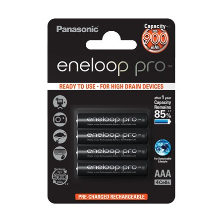 Baterie 4HCCE/4BE ENELOOP PRO AAA 4x PANASONIC nabíjecí
