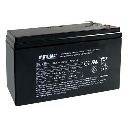 Baterie olověná  12V/ 9Ah  MOTOMA bezúdržbový akumulátor