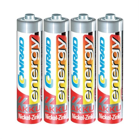 Baterie AAA(R03) nabíjecí CONRAD NiZn 550mAh, 1,6V (blistr 4ks)