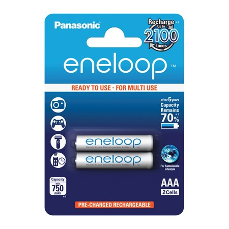 Baterie 4MCCE/2BE ENELOOP AAA 2x 2100 PANASONIC nabíjecí