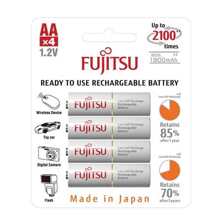 Baterie HR-3UTCEX-4B WHITE AA 4x FUJITSU nabíjecí