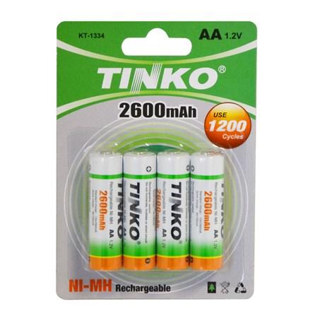 Baterie AA (R6) nabíjecí TINKO NiMH 2600mAh