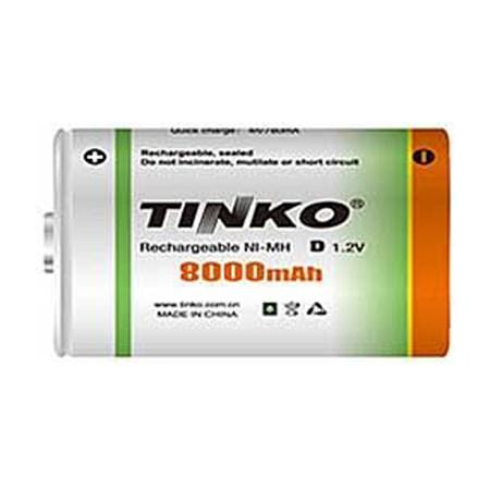 Baterie D (R20) nabíjecí TINKO NiMH 8000mAh