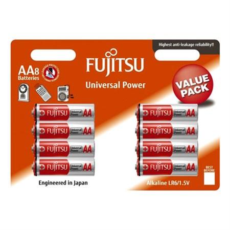 Baterie AA (R6) alkalická FUJITSU Universal Power 8ks blistr