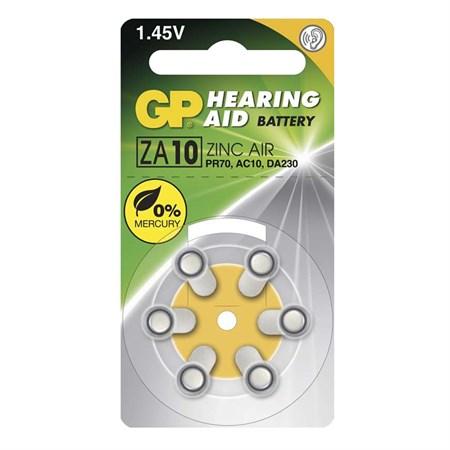 Baterie do naslouchadel GP ZA10, 6 ks v blistru