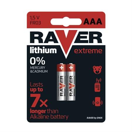 Baterie AAA(R03) lithiová  RAVER