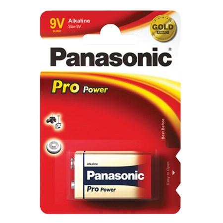 Baterie 6F22 (9V) alkalická PANASONIC Pro Power
