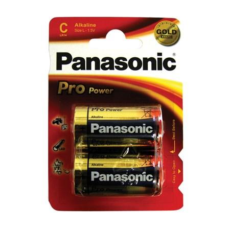 Baterie C (R14) alkalická Panasonic Pro Power (blistr 2ks)