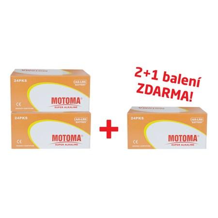 Balíček 2+1 Baterie alkalická AA (R6) MOTOMA Ultra alkaline (3 krabice 04270214)